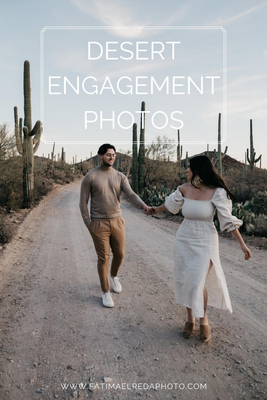 Desert Engagement Photos in Arizona, image by Fatima Elreda Photo